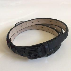 Michael Kors Black pyramid stud Leather belt XL